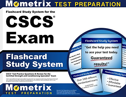 Flashcard Study System for the CSCS Exam: CSCS Test Practice Questions & Review for the Certified Strength and Condi