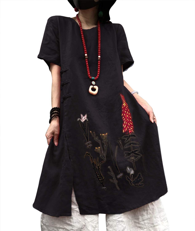 Top 6 Summer Pockets Buttoneddecor Shift Linen Dresses
