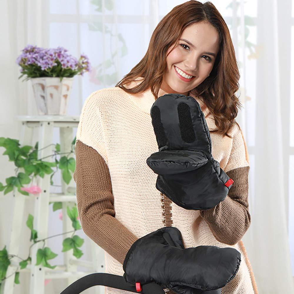 KungFu Mall 1 par de guantes de mano para cochecito de beb/é con 1 par de ganchos para cochecito de beb/é