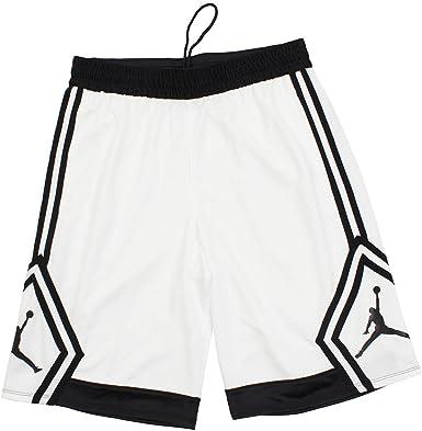 Amazon Com Nike Jordan Rise Diamante Pantalones Cortos De Baloncesto Para Hombre Blanco Negro Tamano Mediano Clothing