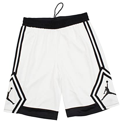 f1d08ee68b2b Amazon.com   Jordan Rise Diamond Basketball Shorts Mens (White Black ...