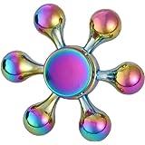 Cozyrom ハンドルの形状 ハンドスピナー 子供もサラリーマンも適用 Hand Spinner Toy ストレス解消 暇つぶし 母、父のギフト (虹の色)