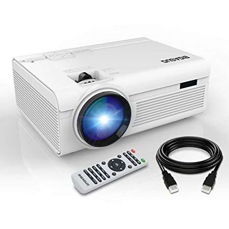 BIGASUO Proyector Bluetooth, LED, 2400 lúmenes, Mini HD ...