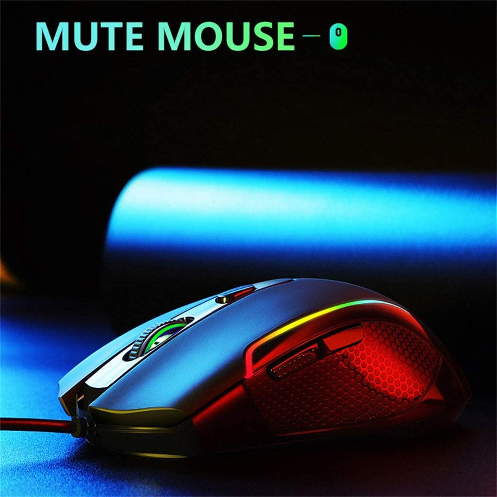 Dacorda USB Ergonomic Mice 6 Backlight Modes Up to 3500 DPI RGB Wired Gaming Mouse Laptop PC Gaming Mouse for Windows 7//8//10//XP Vista Linux Gaming Mouse Wired Computer Mice