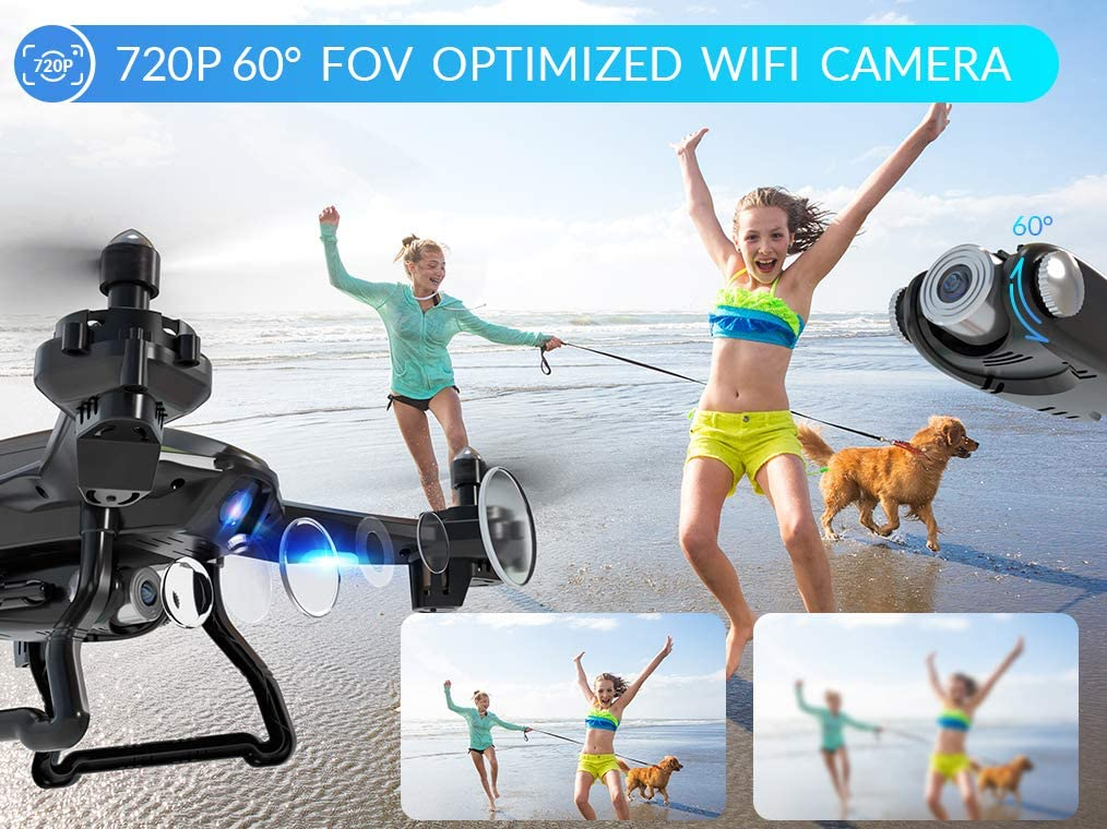 SNAPTAIN S5C WiFi FPV Drone Review about its HD camera - snaptain s5c wifi fpv drone with 720p hd