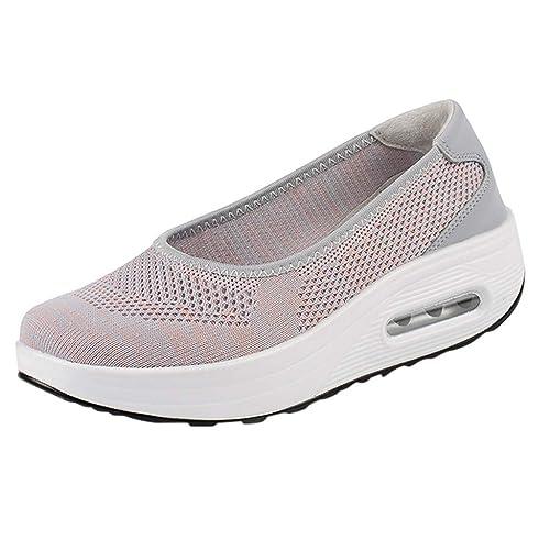 Excellent Amazon Com Justwin Air Cushion Wedge Rocker Shoes Womens Customarchery Wood Chair Design Ideas Customarcherynet