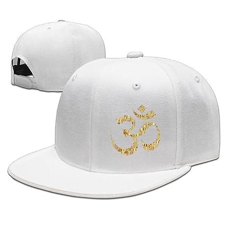 7f238dde586 Baseball-caps MOLLYY Golden Om Symbol Circles Man Funny Painting Snapback  Adjustable Hip-Hop Hats Ash at Amazon Men s Clothing store