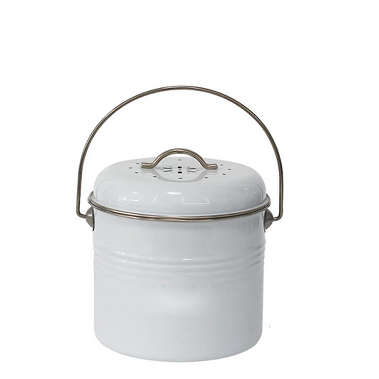 OOFYHOME Creative cakes barrels, creative kitchen spare bucket, with plastic barrels round trash cans, storage of debris dishes