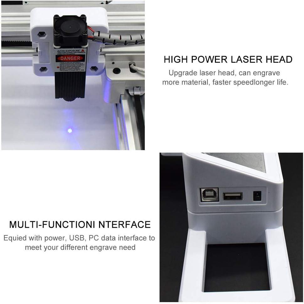 Impresora grabadora l/áser de escritorio mini l/áser grabado CNC para madera Papel Caucho Bamb/ú Cuero Pl/ástico Vogvigo M/áquina de grabado l/áser USB fuera de l/ínea