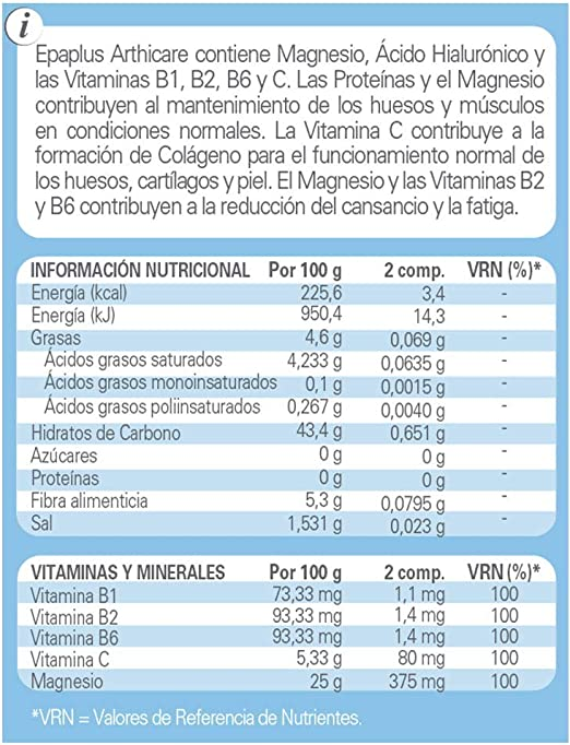 Epaplus Articulaciones Magnesio + Ácido Hialurónico 60 comprimidos