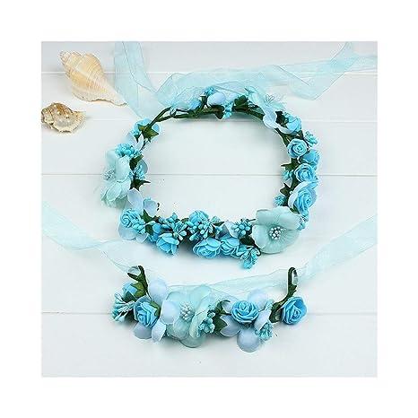 Ppzmd Headwears Guirnalda de Flores Diadema para Mujer con ...
