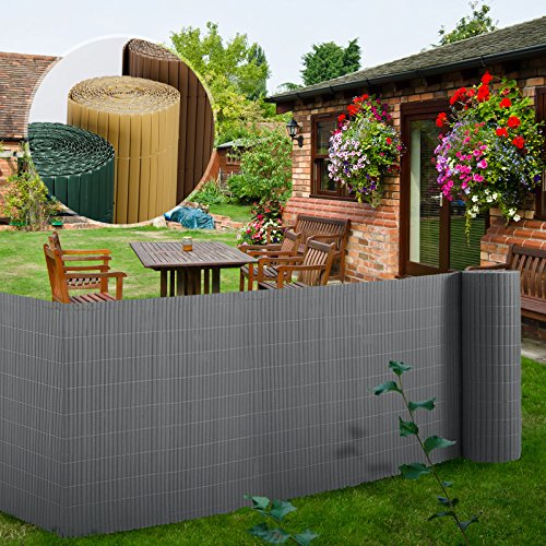 Brown Protective Fencing Screen for Balcony Garden etm/® PVC Screening Fence Multiple Colours /& Sizes Available 100 x 300 cm