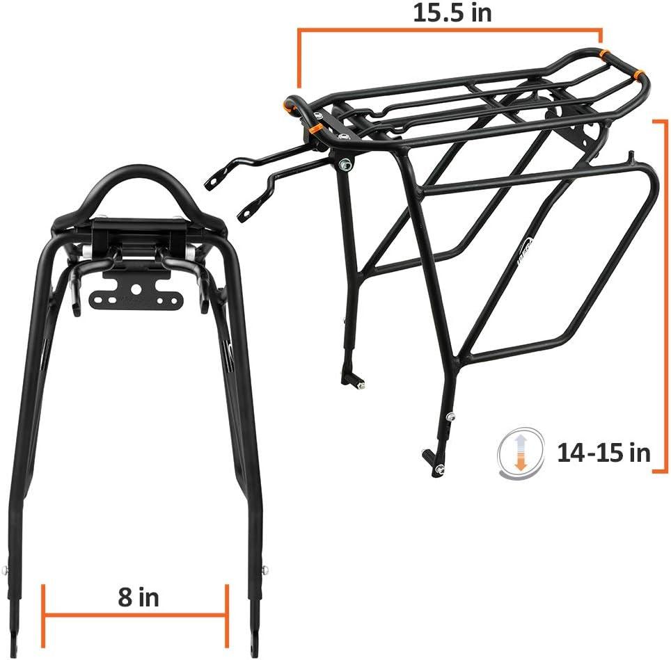 Ibera PakRak IB-RA5 - Portaequipajes para Bicicleta, con Montaje sobre el Disco de Freno, para Cargas Superior y Laterales: Amazon.es: Deportes y aire libre