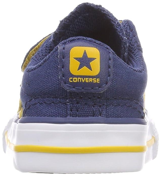 Converse Unisex Baby Star Player EV 2V OX Hausschuhe, Blau (Navy/Mineral Yellow/White 426), 18 EU