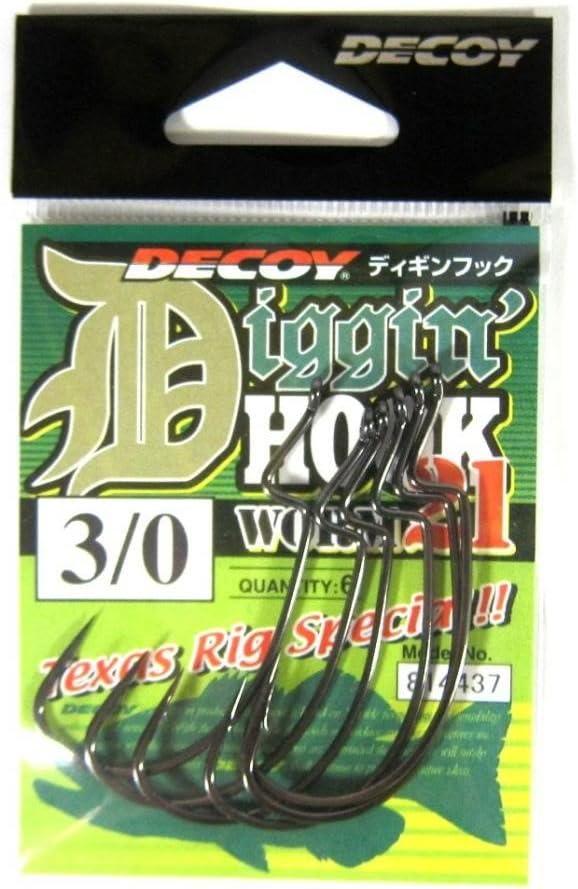 1580 Decoy Worm 13KG Hyper Extra Heavy Duty Offset Worm Hooks Size 1//0