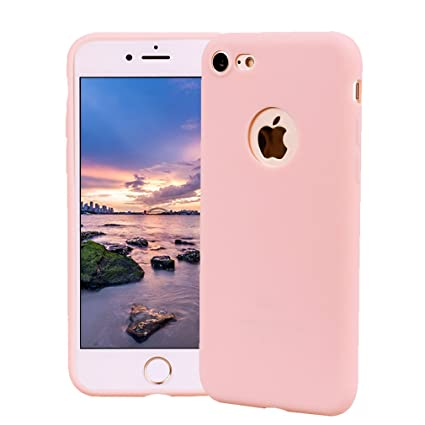 Funda iPhone 8, Carcasa iPhone 8 Silicona Gel, OUJD Mate Case Ultra Delgado TPU Goma Flexible Cover para iPhone 8 - Rosa