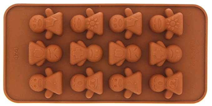 Le Juvo Chocolate de silicona moldes - caras sonrientes, cifras, Fuits, niños juguetes, 4 piezas: Amazon.es: Hogar