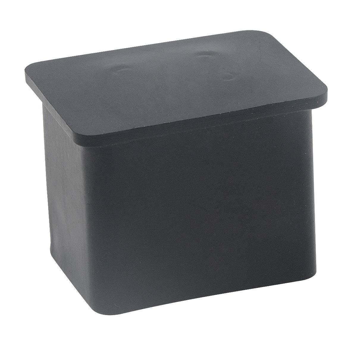 Saim Noir rectangle meubles Table Bureau Pied Cover Cap 30/mm x 20/mm lot de 24