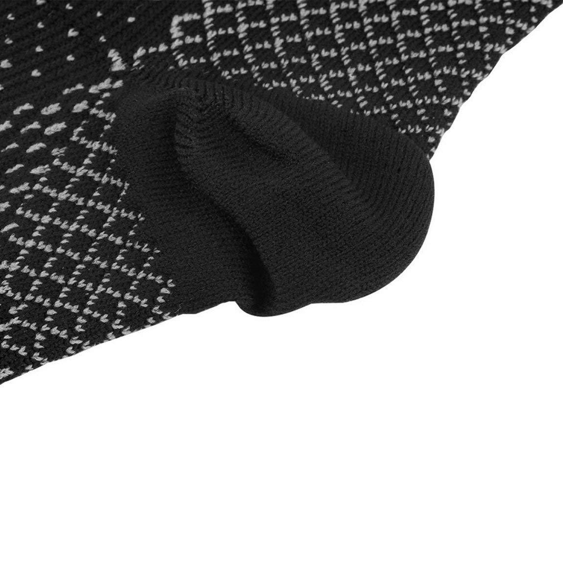Nero 73JohnPol Piedi Professionali Tacco Calzino Compressione Calzino Anti affaticamento Piedi varicosi Manica Uomo Donna Running Calzino Basket