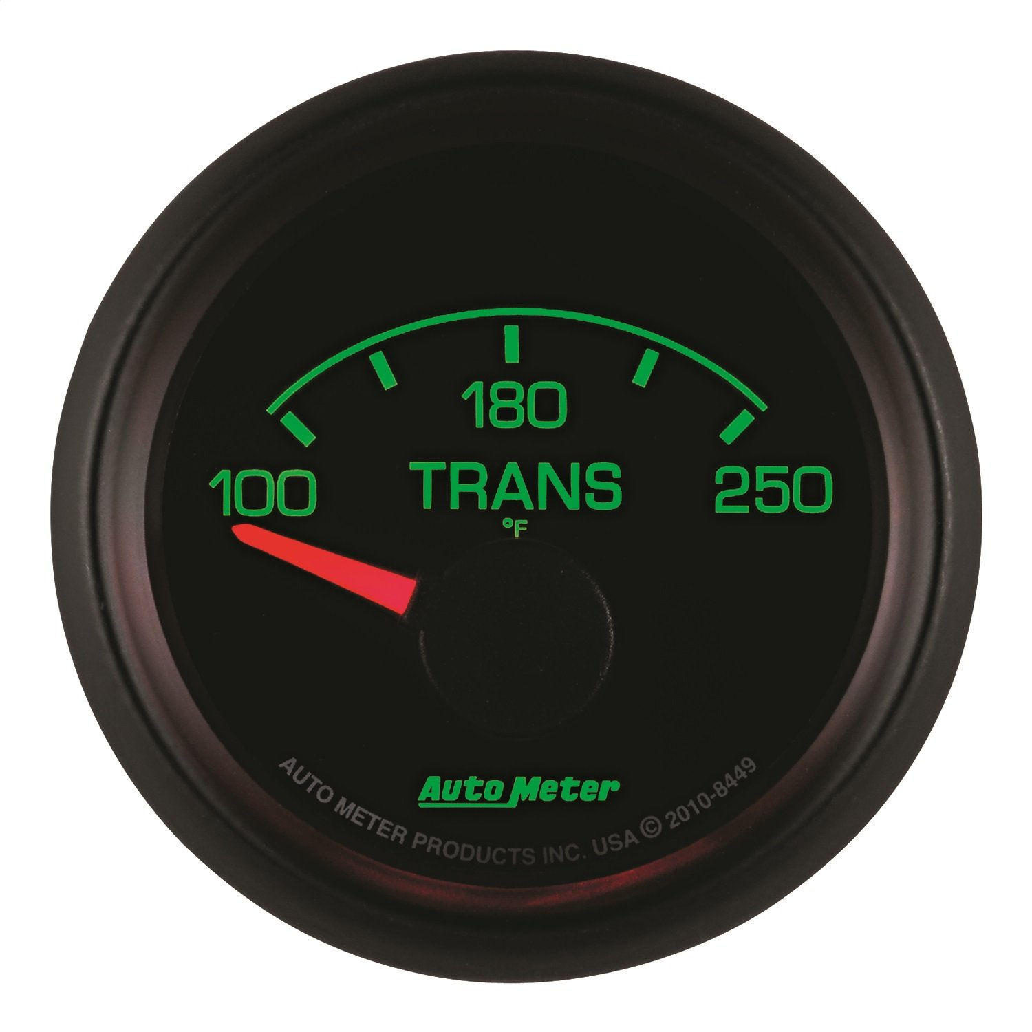 Auto Meter 8449 Factory Match 2-1/16'' 100-250 Degree Fahrenheit Transmission Temperature Gauge for Ford Racing