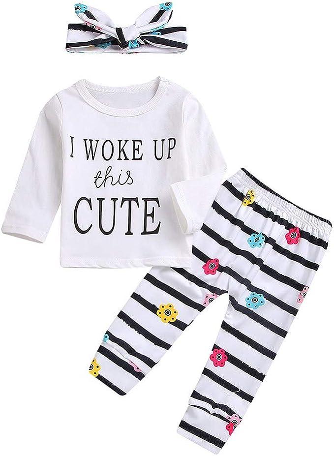 Fashion Set Cotton Outfits Unisex Letter Print Bodysuit Baby Clothes
