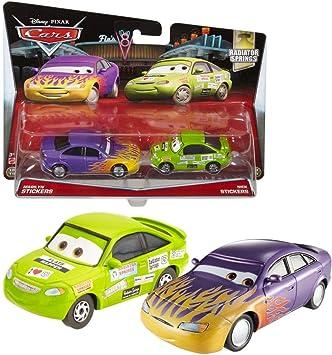 Disney Cars Cast 1:55 - Selección Modelos de Vehículos Doble Pack, Cars Doppelpacks:Marilyn & Nick Stickers: Amazon.es: Juguetes y juegos