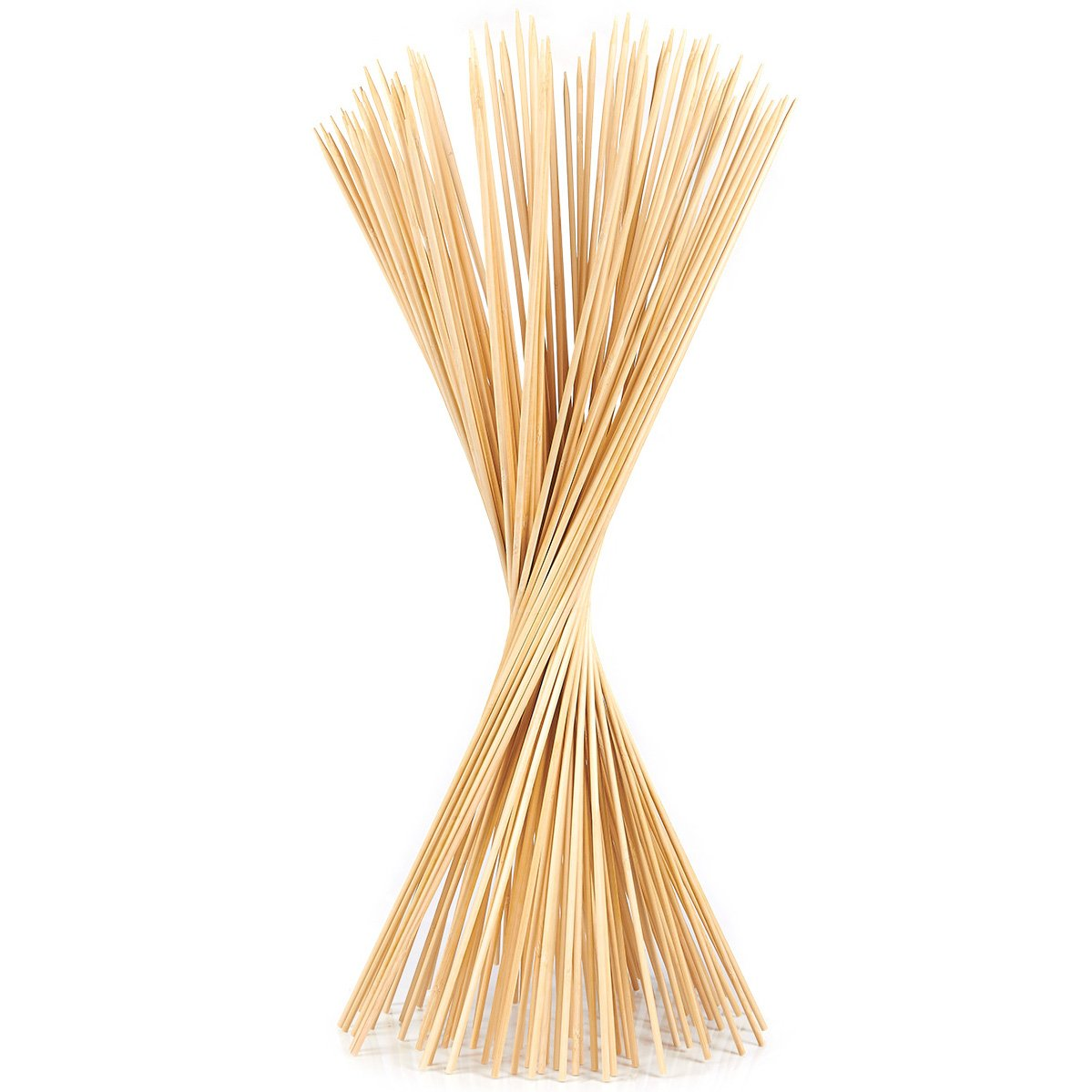 Juvale BBQ Bamboo Skewers - 100-Piece Roasting Sticks Shish Kabob, Marshmallows, Fondue, Barbecue Shrimp, Grill More - 29.7 x 0.19 Inches