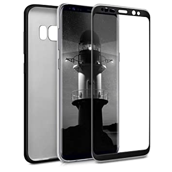 kwmobile Funda para Samsung Galaxy S8 - Carcasa [Doble] de [TPU] - Case de [ambas Caras] para móvil en [Negro Metalizado]