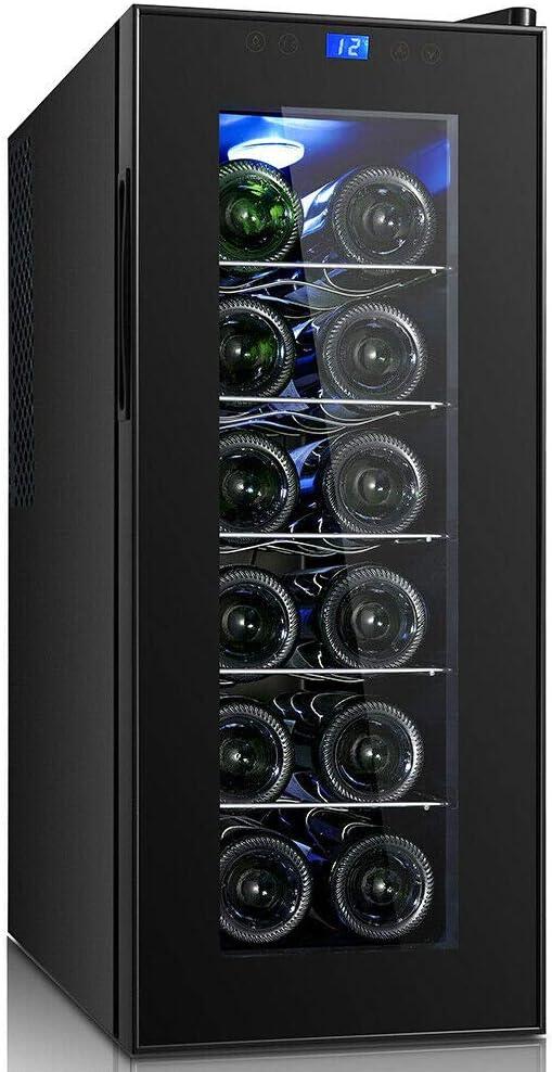 Wolkenstein Weintemperierschrank Weink/ühlschrank 12 Flaschen WKS12A