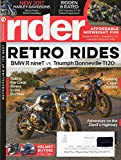 img - for Rider 2016 Magazine Motorcycling At It's Best ADVENTURE ON THE DEVIL'S HIGHWAY Helmet Buying & TLC Tips book / textbook / text book