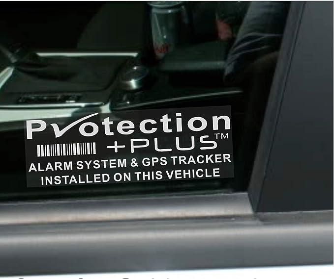 5 adhesivos de advertencia de seguridad de alarma y dispositivo de seguimiento GPS, 87 x 30 mm, de Platinum Place: Amazon.es: Coche y moto