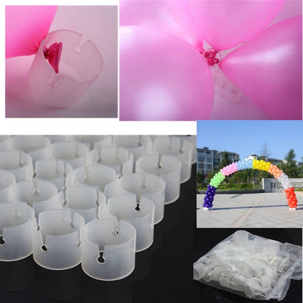 VANKER 50Pcs/Pack Decorative Decor Balloon Arch Folder Convenient Buckles Connectors
