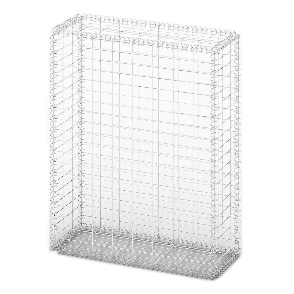 Festnight Gabion Basket Wall with Lids Galvanized Wire 39.4'' x 31.5'' x 11.8''
