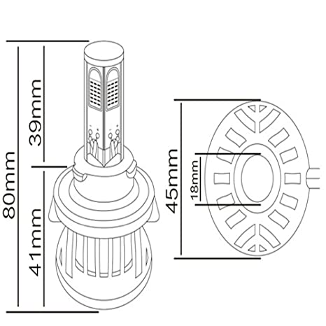 H13 Led Headlight Bulb