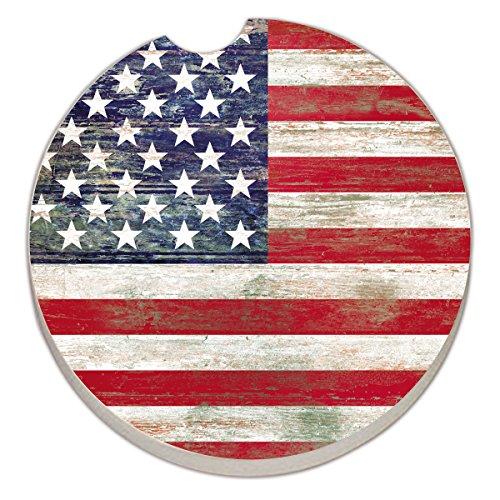 Counter Absorbent Stoneware Coaster Americana