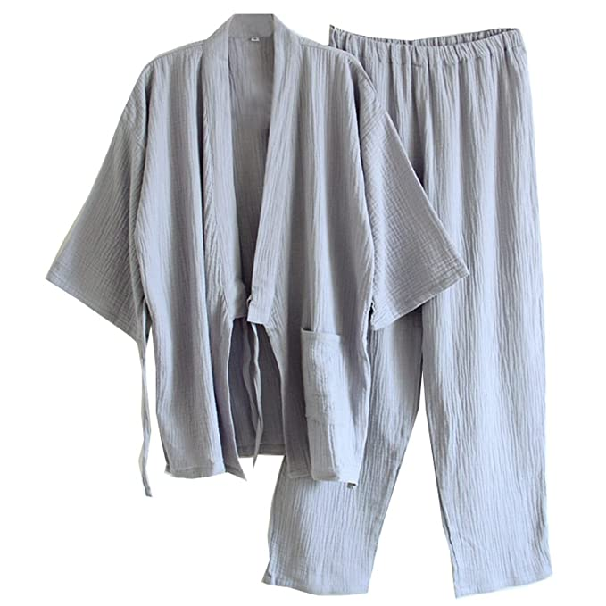 Traje de pijama Kimono de estilo japonés para hombres [D] 1z5VB7K