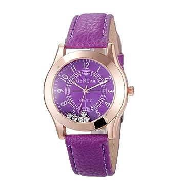 Relojes Pulsera Mujer, Xinan Reloj de Pulsera de Cuarzo Reloj (Púrpura): Amazon.es: Deportes y aire libre