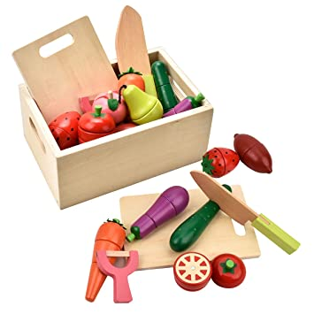 Groovy Carlorbo Wooden Toys For 2 Year Olds Magnetic Pretend Play Food Toys Set Fruits And Vegetables For Kids Role Play Kitchen Download Free Architecture Designs Jebrpmadebymaigaardcom