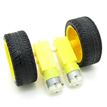 Tipo TT doble eje 1:48 Gear Motor con ruedas para Smart Car