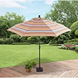 Better Homes and Gardens 9' Market Umbrella, Bright Stripe