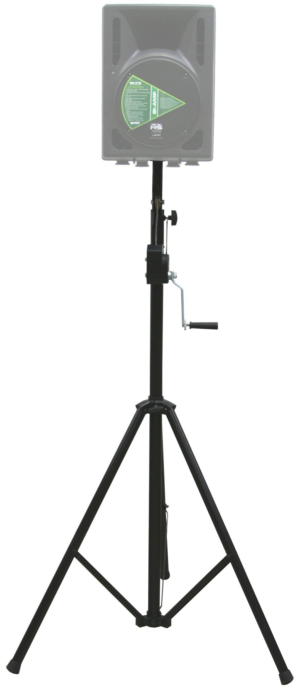 ASC Pro Audio Mobile DJ Light Stand 10 Foot Height Crank Lighting or Speaker Tripod by American Sound Connection