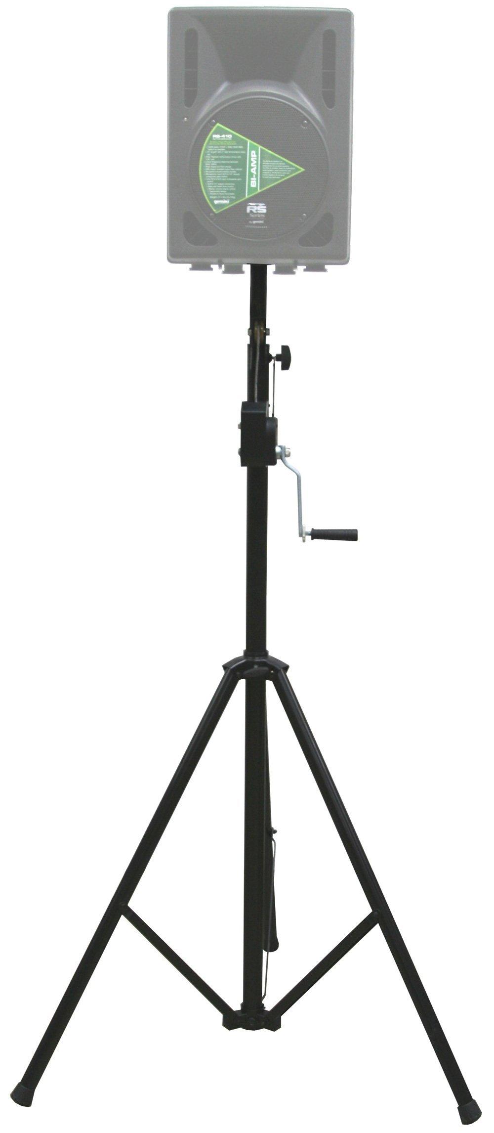 ASC Pro Audio Mobile DJ Light Stand 10 Foot Height Crank Lighting or Speaker Tripod