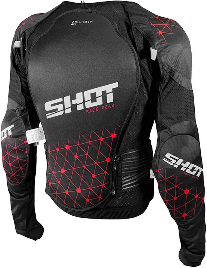 SHOT Gilet de Protection Kid Airlight Evo Taille S Noir//Gris