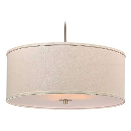 drum pendant lighting brass modern drum pendant light with cream linen shade ceiling