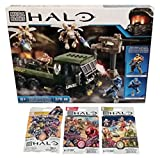 Mega Bloks Halo Bundle - Covenant Drone Outbreak (CND03) + Series 7, Series 8 & Series 9 Blind Bags (1 Pack of Each)