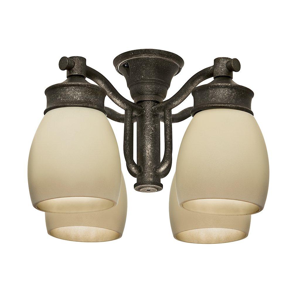 Casablanca Fan Company 99087 Outdoor 4 Light Fixture, Aged Bronze