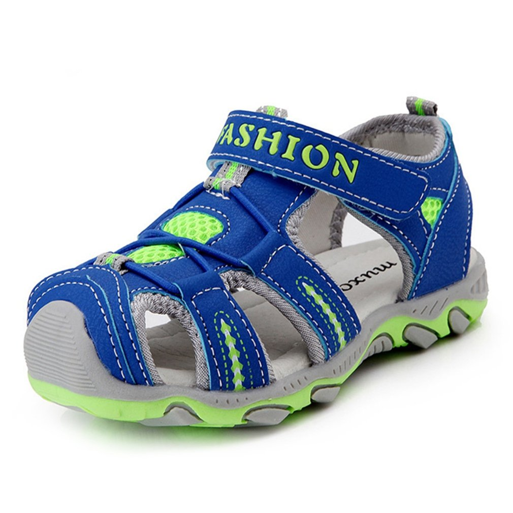 CYBLING Boys Summer Breathable Athletic Closed-Toe Sandals Outdoor Beach Sport Shoes (Toddler/Little Kid)