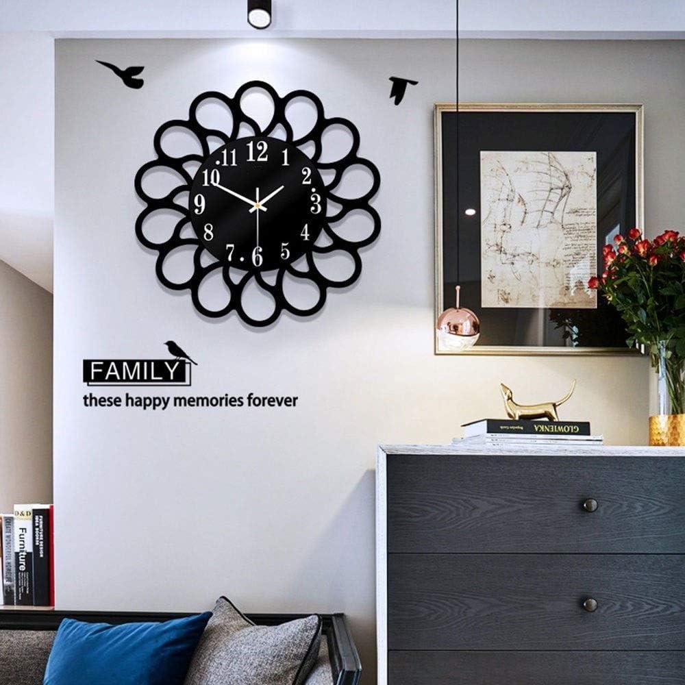 Xihouxian Modern Art Deco Home Quartz Wall Clock Simple Garden Wall Clock Creative Living Room Silent Clock Clock