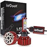 ieGeek H7 LED 6000k Kit de Conversion Phare de Voiture (9V-36V), IP68 Etanche, Prémium Ampoules 60W 7200LM (une paire)