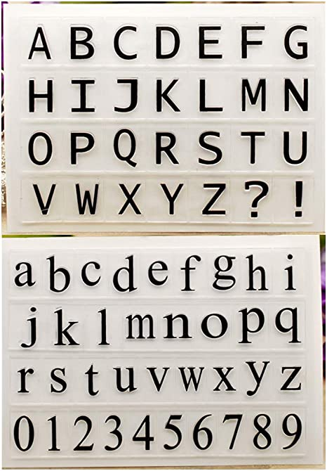 Brushed Capital Alphabets Letter Clear Stamps for Card Making Decoration and DIY Scrapbooking Tools